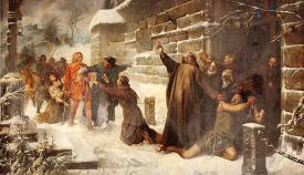 «El derecho de asilo», de Francisco Javier Amérigo (1892), Museo del Prado, Madrid.