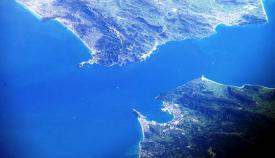 Imagen satélite del estrecho de Gibraltar
