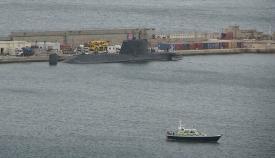 El HMS Ambush, en puerto