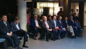 El ministro principal de Gibraltar y el alcalde de La Línea, en primera fila del acto
