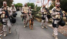 Elementos de la Fuerza de Protección, durante la FPEX del año pasado. Foto ARMADA
