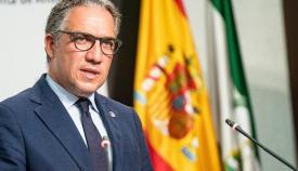 Elías Bendodo, consejero de Presidencia de la Junta de Andalucía