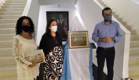 Responsables municipales en el Museo Cruz Herrera de La Línea. Foto: lalínea.es