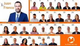 Juan Franco y su equipo para las elecciones municipales