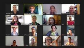 Imagen de la reunión virtual. Foto: Junta