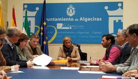 Eva Pajares, en el centro, en una imagen de archivo