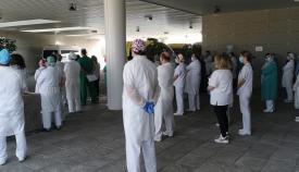El Hospital Punta Europa homenajea a la sanitaria fallecida este sábado