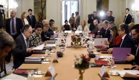 Una cita de la titular de Exteriores con responsables políticos del Campo de Gibraltar