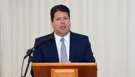 Fabian Picardo ministro principal de Gibraltar, en el Propeller Club de Algeciras