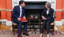 Fabian Picardo y Theresa May