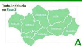 Toda Andalucía está ya en la Fase 3 de la desescalada
