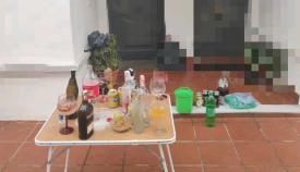 Imagen de la fiesta organizada en una urbanización de Los Barrios