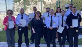 Grupo de empleados que recibieron la formación. Foto GG