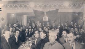 Ágape de una logia masónica de la comarca (Archivo del autor)