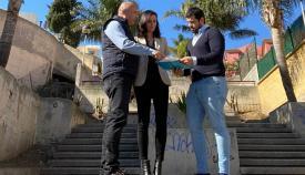 El Ayuntamiento de Algeciras repone la escalera de San Bernabé