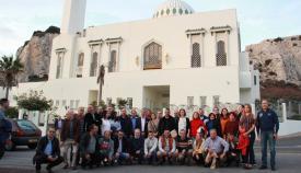 Foto de grupo de los asistentes al 35 Congreso de Periodistas del Estrecho