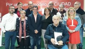 Juan Chacón y miembros de su lista electoral