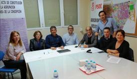 Imagen de la reunión mantenida entre el PSOE de La Línea y los comerciantes y empresarios