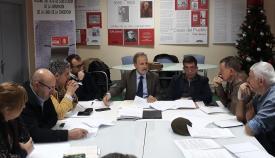 Salvador de la Encina, en la reunión con el Grupo Transfronterizo