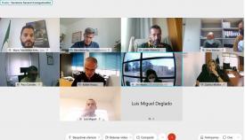 Una secuencia de la reunión virtual de hoy. Foto: lalínea.es