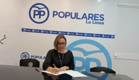 Susana González en la sede del PP de La Línea. Foto: NG