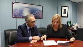 Juan Lozano y Eva Pajares, en su reunión de este lunes