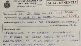 Multados en Algeciras por practicar sexo en un coche durante el Estado de Alarma