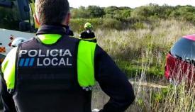 La Policía Local retira a una persona que estaba acampada en El Rinconcillo
