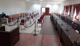 La sala de la Audiencia de Algeciras, adaptado para macrojuicios