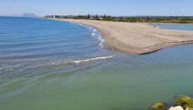 Verdemar advierte del escaso caudal en la desembocadura del río Guadiaro
