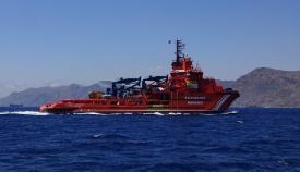 Localizan el helicóptero de Aduanas caído al mar e inician el rescate