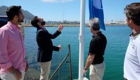 Juan Franco en una visita a las instalaciones de Alcaidesa Marina