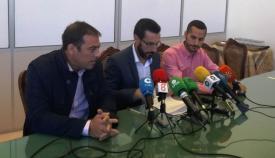 El alcalde de La Línea, en la rueda de prensa de hoy