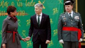 María Gámez, a la izquierda, junto al ministro Grande-Marlaska