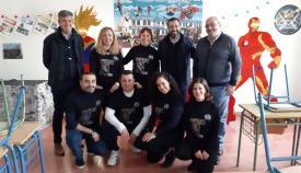 Franco e Hidalgo han visitado hoy el Instituto Tolosa de La Línea