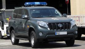 Un vehículo del Grupo de Acción Rápida de la Guardia Civil