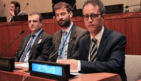 García, ante el Comité de Descolonización de la ONU. Foto InfoGibraltar