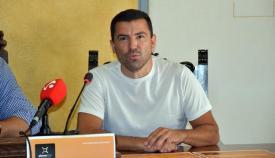 García Arévalo en una de sus charlas