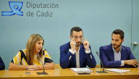 Irene García, Juan Franco y Mario Fernández en una foto de archivo