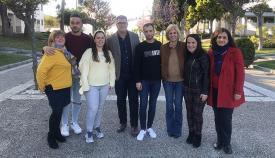 Los responsables del PP, durante su visita a Castellar