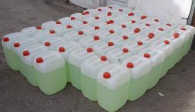 Una imagen de las garrafas intervenidas. Foto: NG