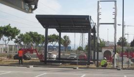 Obras de la nueva gasolinera de Campamento
