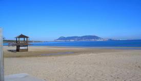 Imagen de la playa de Getares, en Algeciras