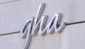 Rótulo del GHA, Servicio de Salud pública de Gibraltar