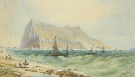 Acuarela realizada por el propio Jon Miller Adye durante su estancia en Gibraltar
