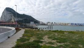 Gibraltar visto desde La Línea