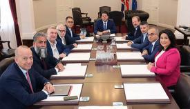 Una de las reuniones del Gobierno
