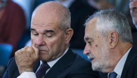 Menuel Chaves y José Antonio Griñán, expresidentes de la Junta de Andalucía