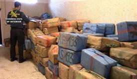 Un cargamento de hachís intervenido por la Guardia Civil. Foto: Interior