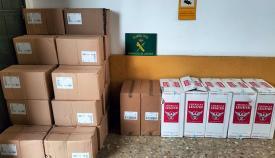 Parte del cargamento incautado por la Guardia Civil. Foto: NG